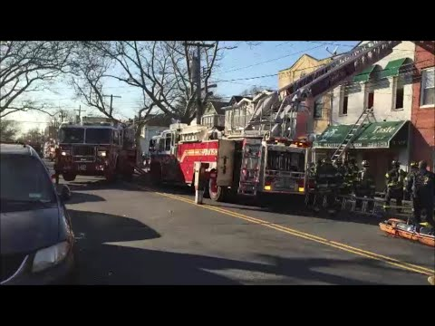 FDNY Using All Hands To Fight A 10-75 Fire On 111th Ave In Queens, New York City