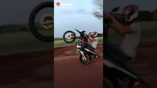 Unbelievable! Bike stunt by young girl in india - videos clip fun