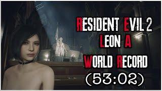 Resident Evil 2 Remake - Leon A Speedrun World Record - 53:02