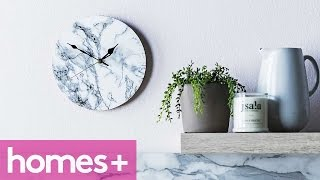 Diy Project: Faux Marble Clock - Homes+