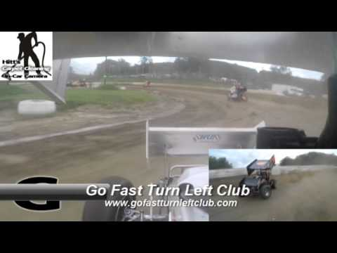 Dustin Purdy @ Five Mile Point Speedway - CRSA Sprint Cars Heat Race - GoPro - 8/22/15