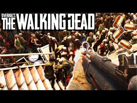 HOLDING OFF A HORDE OF ZOMBIES? - Overkill's The Walking Dead Gameplay - Zombie Survival Game thumbnail