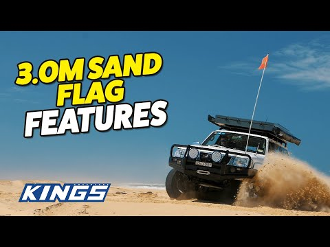 Adventure Kings 3m Sand Flag Features