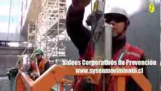 Seguridad en Andamio Colgante con Pescante de Contrapeso