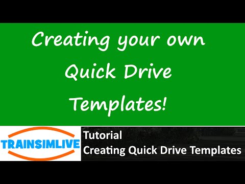 Train Simulator 2015 Tutorial - How to Make your own Quick Drive Scenario Templates