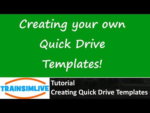Train Simulator 2015 Tutorial - How to Make your own Quick Drive Scenario Templates