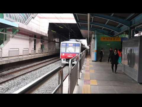 Korail Line 1 Gyeongin express train passing Jemulpo
