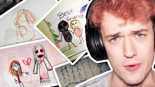 CREEPIEST DRAWINGS FROM KIDS TO THEIR PARENTS!!