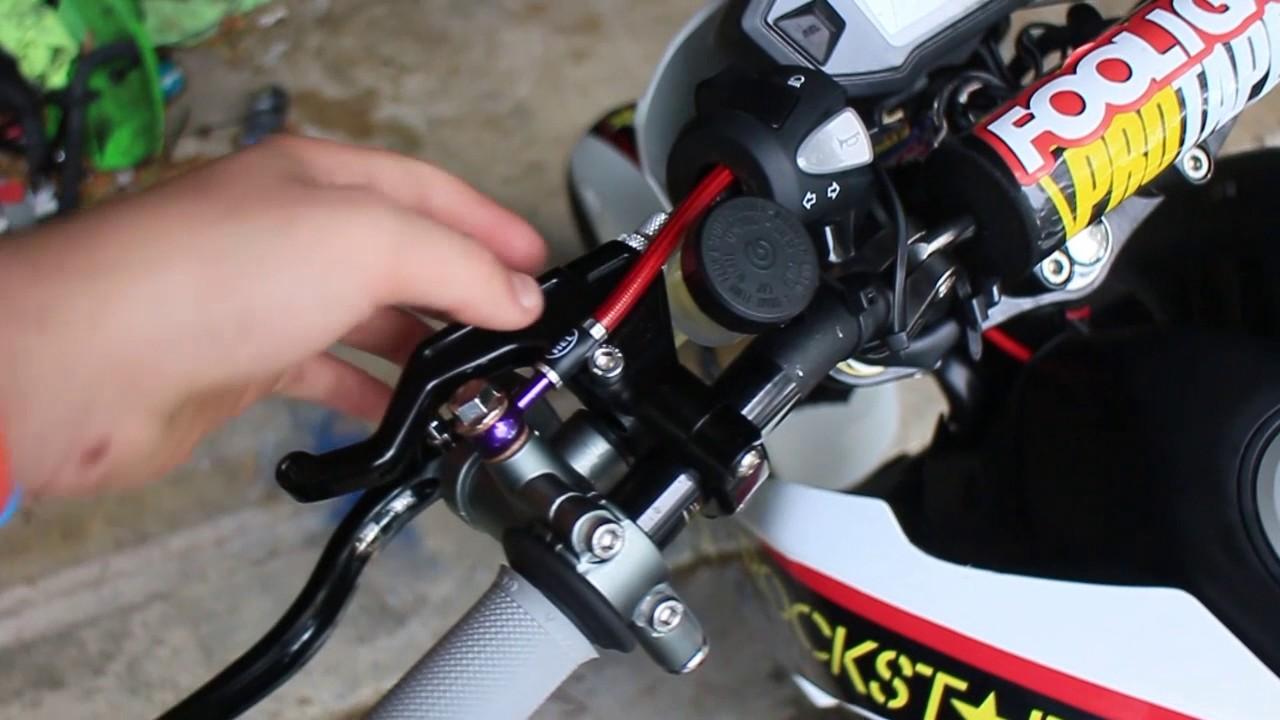 Cheap Honda GROM Stunt Bike Build + Junction Valve Hand Brake Setup