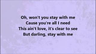 "Sam Smith-""Stay with me"" lyrics video"