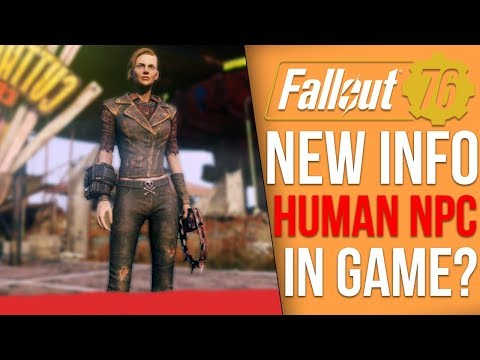 Fallout 76 New Info - Did Bethesda Reveal A Human NPC? - No, BETA Start Times Released for Xbox One