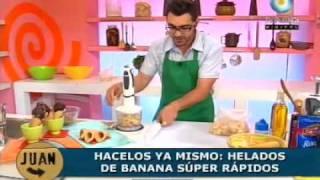 Súper y fácil helado de banana!!!