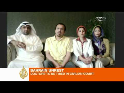 Bahrain medics to face civilian court retrial