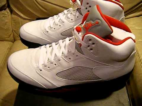 9c84e82a2d1a Nike Air Jordan 5 V Retro 2013 White   Fire Red DS NIB size 14 ...