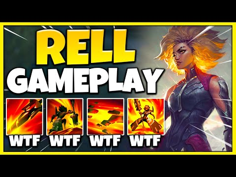 NEW CHAMPION RELL IS A MONSTER! NON-STOP STUN COMBOS + CRAZY TANKINESS - League of Legends