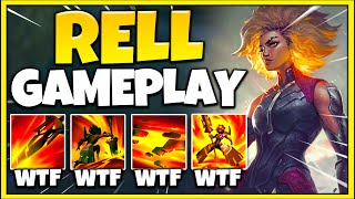 New Champion RELL is an ABSOLUTELY BROKEN Tank! MASSIVE Amounts of CC! - League of Legends