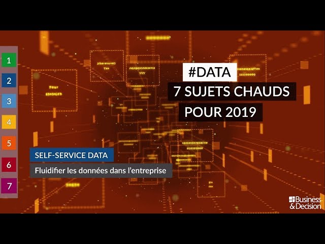 #Data : 7 sujets chauds pour 2019 - 2. Self-service Data