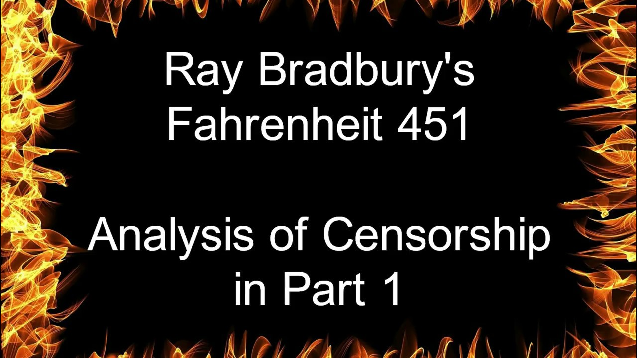 censorship in ray bradburys fahrenheit 451 It was a pleasure to burn through this book and explain that people are dummies for banning a book on book banning banned 1967 - ballantine books released the bal-hi edition aimed at high school students which censored such words as hell and damn and drunk man became a sick man.