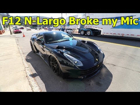 $50,000 Exhaust - Straight Piped Ferrari F12 Novitec N-Largo