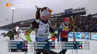 11.01.2015 Biathlon Oberhof Massenstart Damen Winner Daria Domracheva(full)