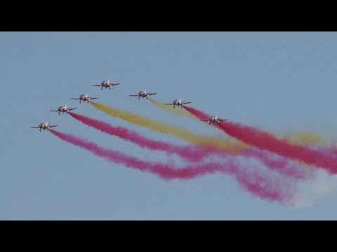 Patrulla Águila Spanish Air Force Aerobatic Team FULL Display at Kecskemét Airshow
