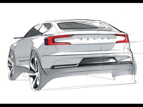 Car Design Sketch & Drawing - Volvo-40 Concept