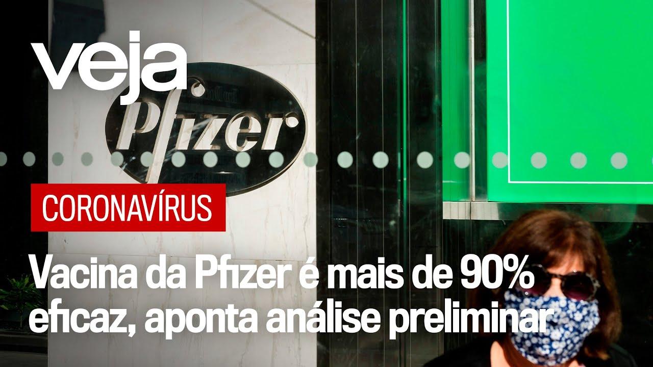 Vacina da Pfizer contra coronavírus é mais de 90% eficaz, aponta análise preliminar