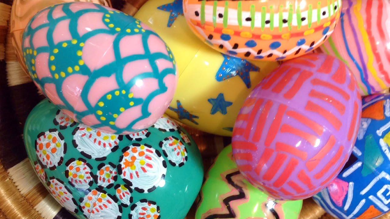 home decor diy plastic easter eggs