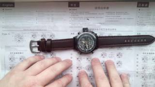 видео Часы AMST (черный корпус, черный циферблат)
