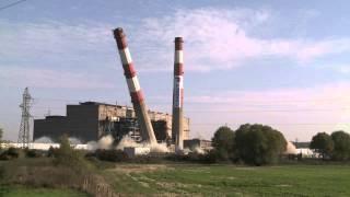 Démantèlement des cheminées de Richemond / Dismantling of Richemond smokestacks