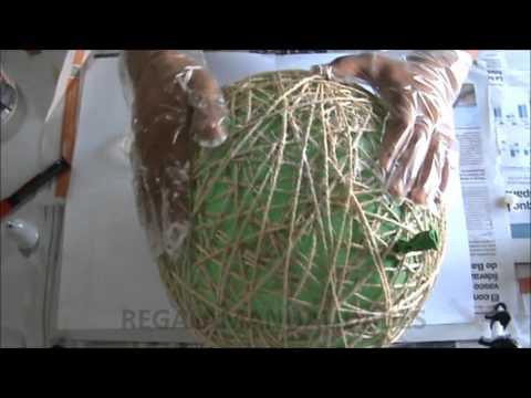 Como hacer lmpara de cuerdas how to make string lamps