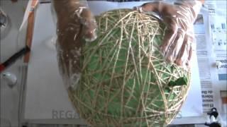 Como hacer lámpara de cuerdas (how to make string lamps)