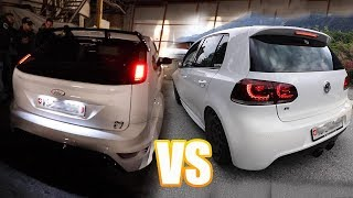 FORD FOCUS RS vs GOLF 6 R - SOUND BATTLE