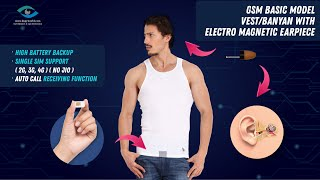 Premium model Spy earpiece GSM Banyan single SIM based with Volume controller