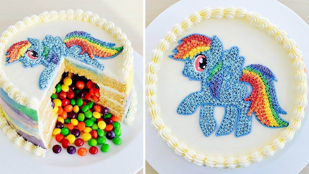Como hacer una Torta Piñata con Rainbow Dash de Mi Pequeño Pony ...