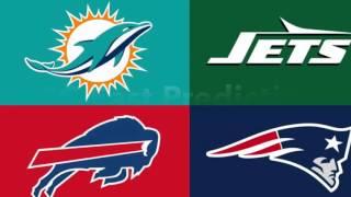 NFL Record Predictions AFC East 2017-2018