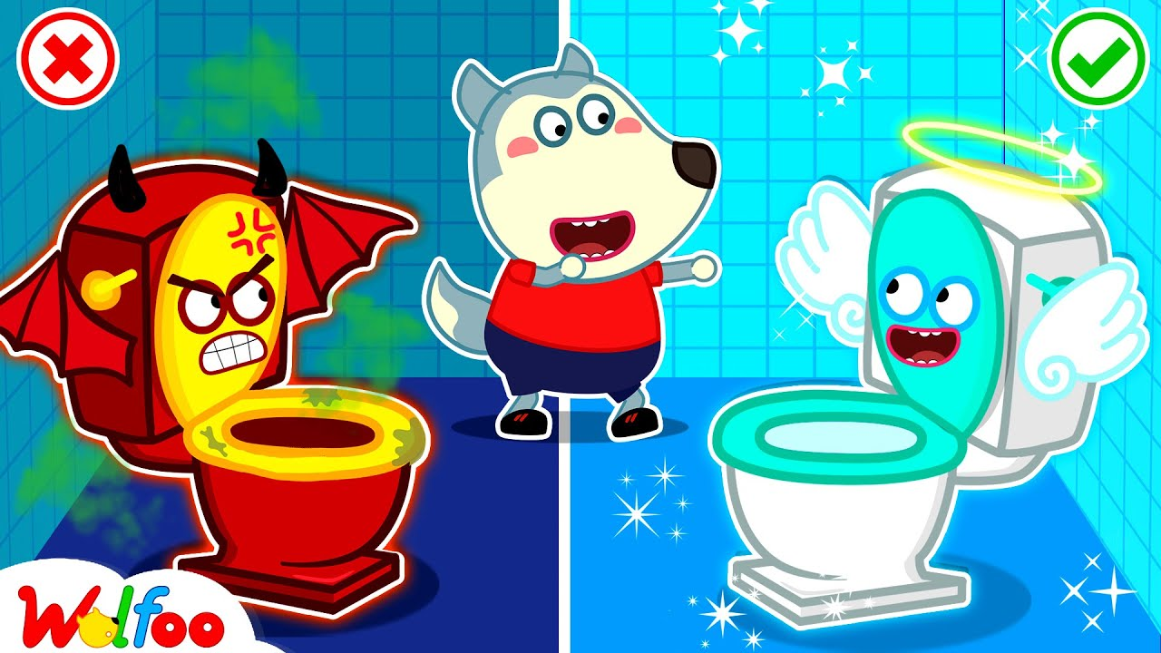 Download Wolfoo!!! Restroom is Angel or Demon - Kids Stories About Potty Training With Wolfoo   Wolfoo Family