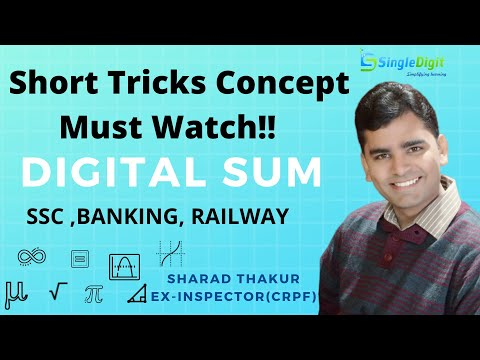 Digital Sum (Simplification Tricks for SSC | BANK | RAILWAY | CAT ) Part I