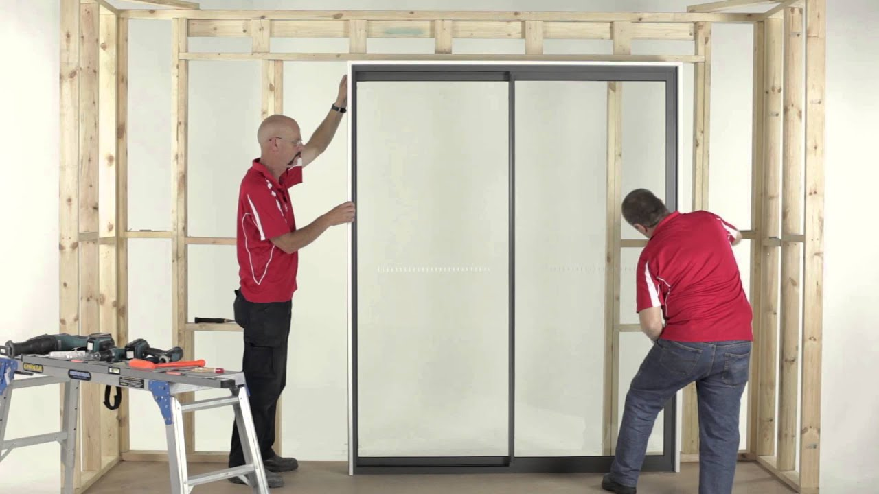 How To Install An Al Sliding Door 2 Panel Youtube