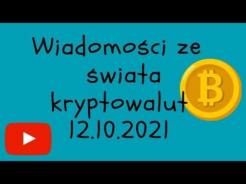 Wiadomości ze świata KRYPTOWALUT 12.10.2021