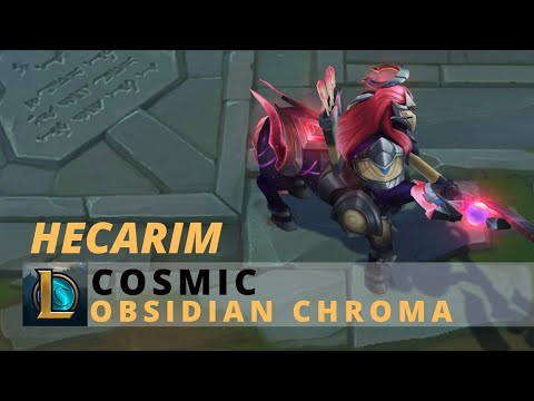 Cosmic Hecarim Obsidian Chroma - League Of Legends