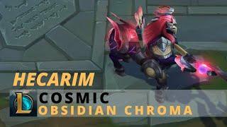 Cosmic Hecarim Obsidian Chroma - League Of Legends