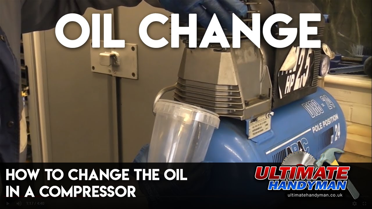How To Change The Oil In A Compressor By Ultimate Handyman Air Wiring Http Wwwaircompressorpartsonlinecom