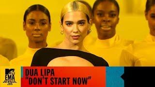 Gambar cover Dua Lipa 'Don't Start Now' Live | MTV EMA 2019
