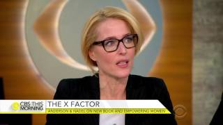 Gillian Anderson and Jennifer Nadel on CBS this morning