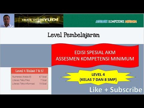 Latihan Soal Akm Level 4 Untuk Kelas 7 Dan 8 Smp Youtube
