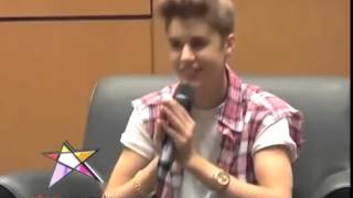 Justin say Sawasdee Krub to Thai fans