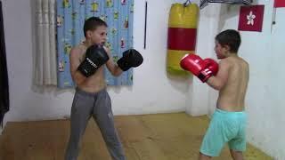 shirtless boys , boxing sparing partener Claudio Vs Giuliano