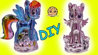 Download Chromies Ponies Fail ! My Little Pony DIY Metallic Craft Kit Rainbow Dash + Twilight Mp3 and Videos