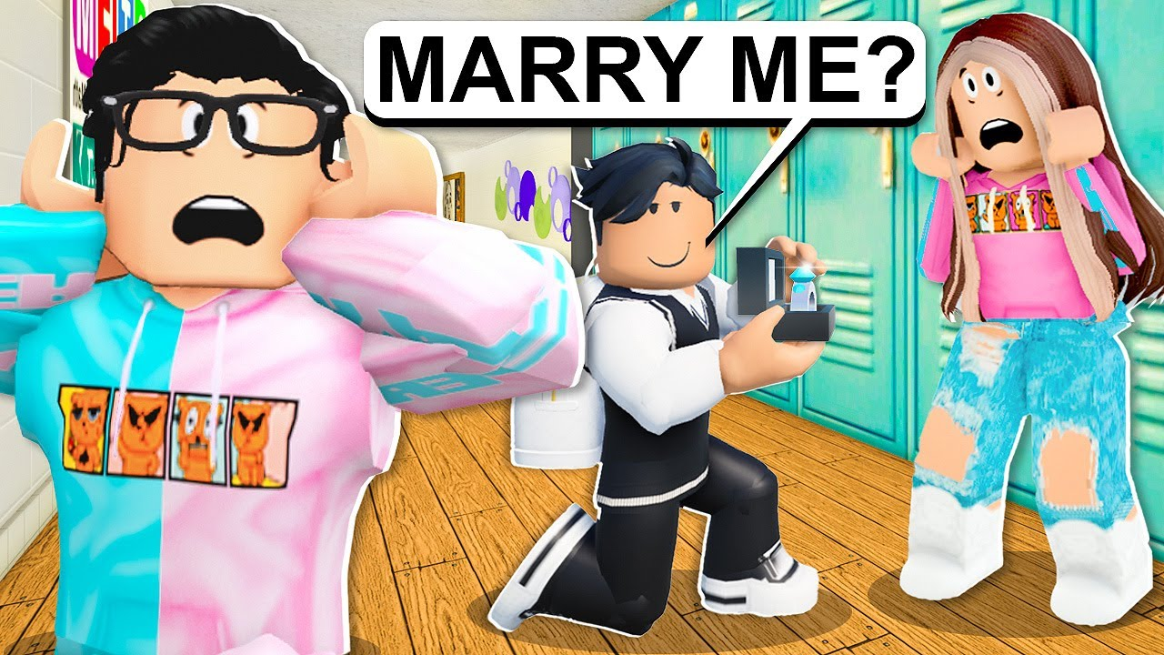 New Student Proposes To My Girlfriend! (Roblox Bloxburg)